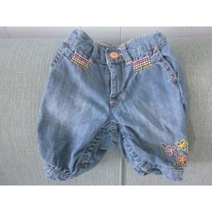 Baby Gap 3/4 length emboidered jeans (3-6 mos.)